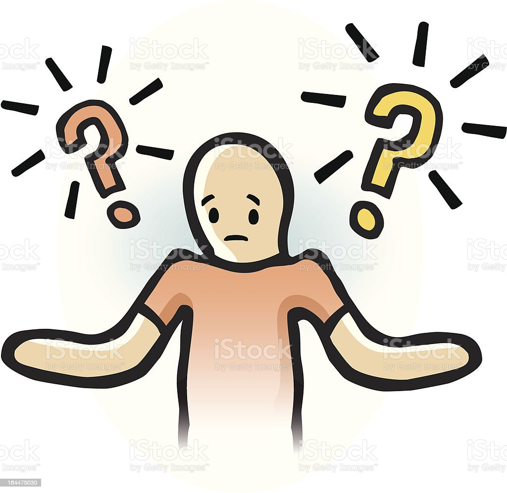 Questions royalty-free stock vector art