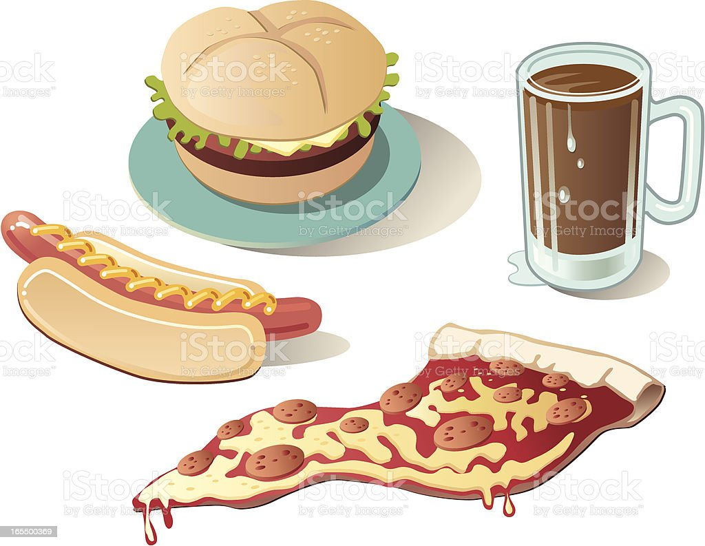 Quick, Fast Food royalty-free stock vector art