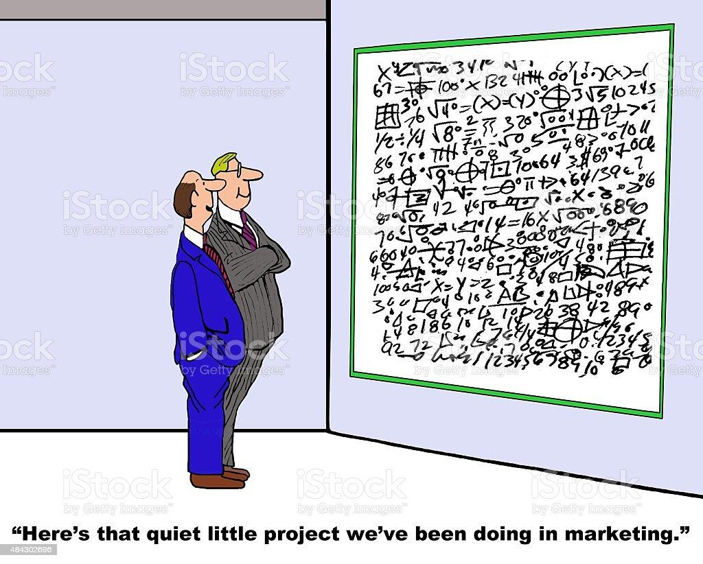 Quiet Little Project vector art illustration
