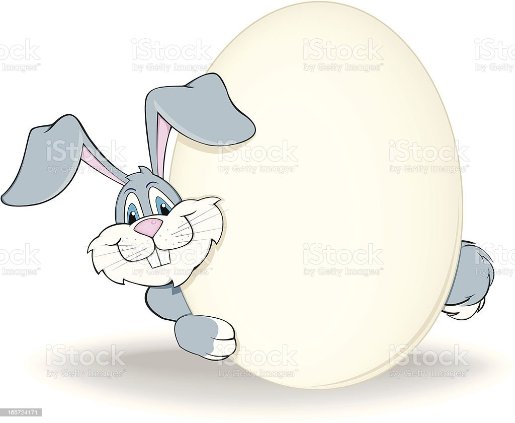 rabbit with egg royalty-free stock vector art