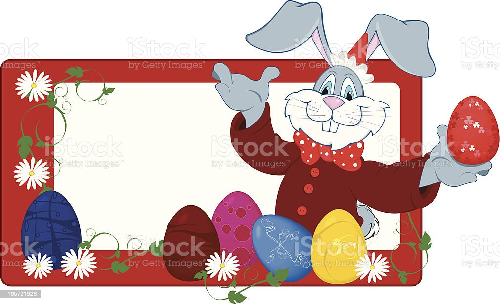 rabbit with eggs royalty-free stock vector art