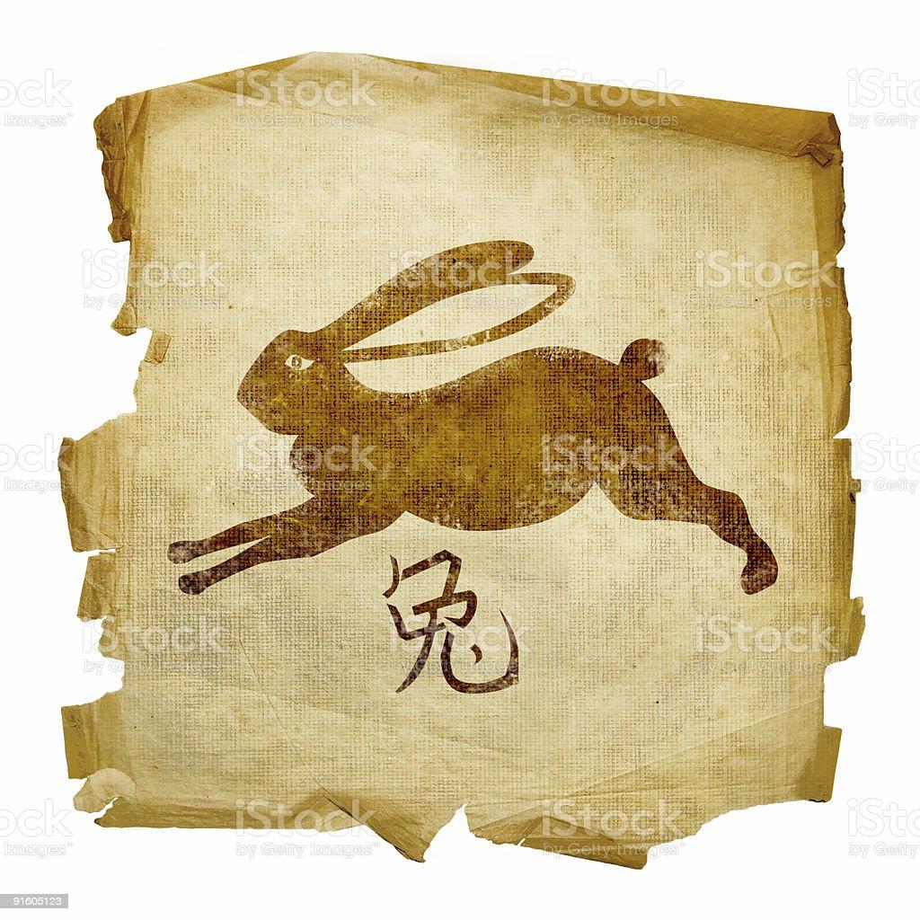 Rabbit Zodiac icon, isolated on white background. royalty-free stock vector art