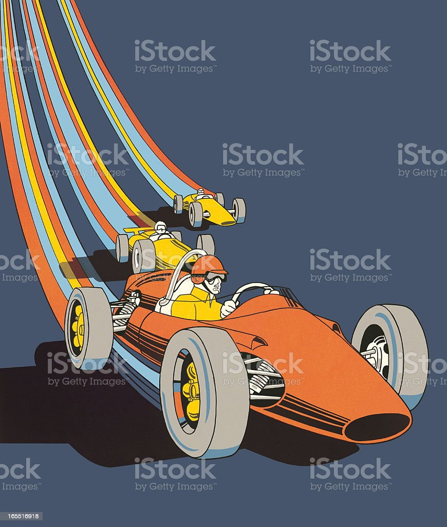 Race Cars royalty-free stock vector art
