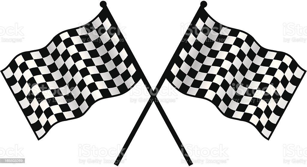 race checkers vector art illustration
