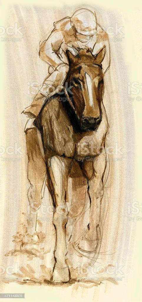 Race Horse Jockey Background royalty-free stock vector art