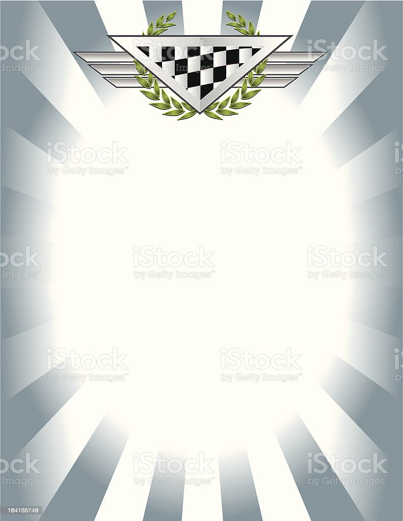 Race Note vector art illustration