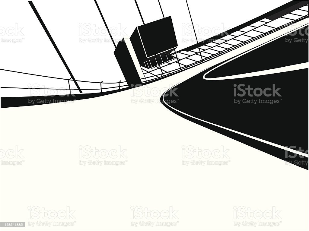Race Track royalty-free stock vector art