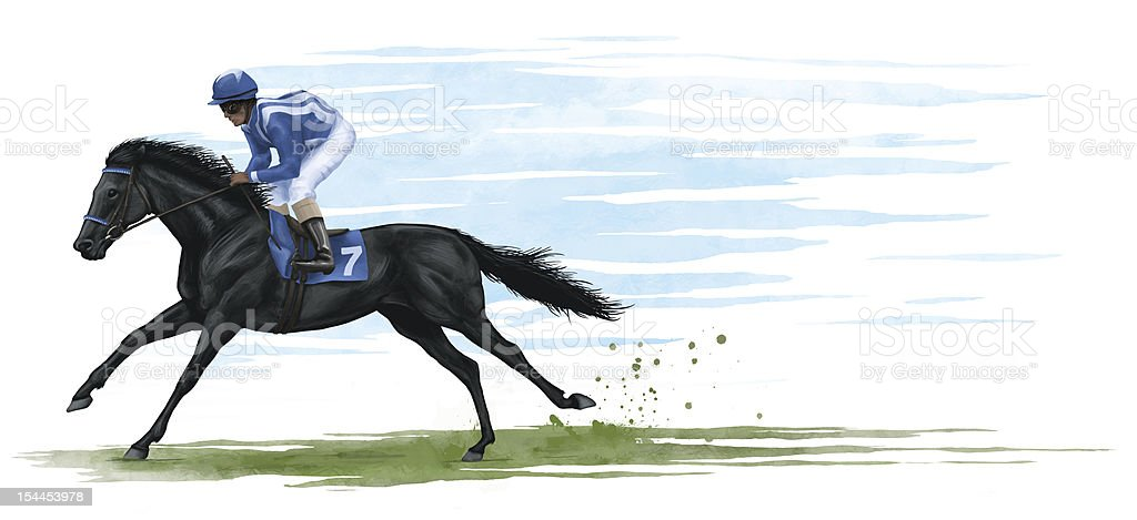 racehorse vector art illustration
