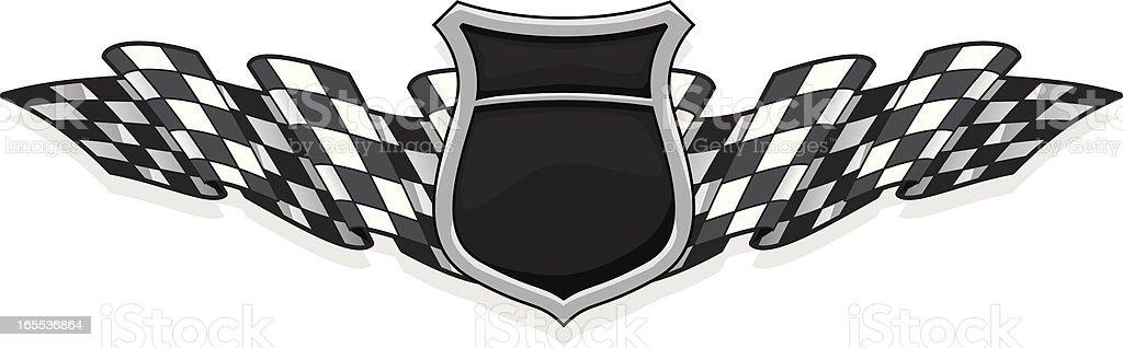 racer badge vector art illustration