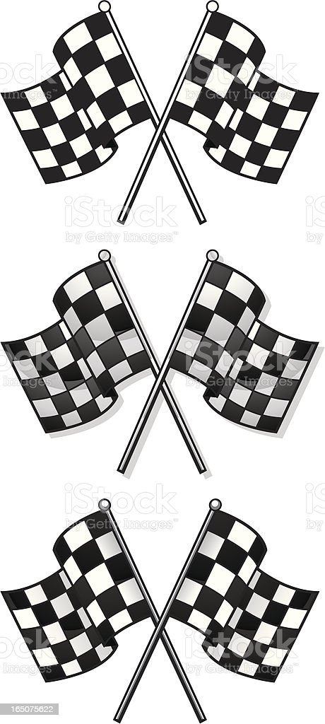 racer flags royalty-free stock vector art