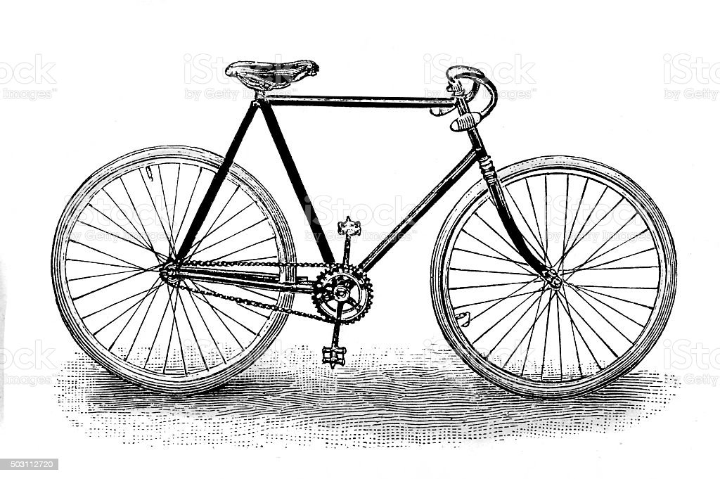 racing bicycle vector art illustration
