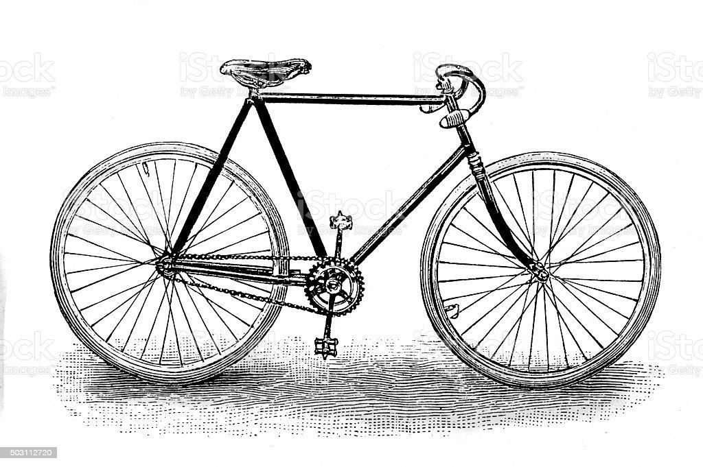racing bicycle vector art illustration