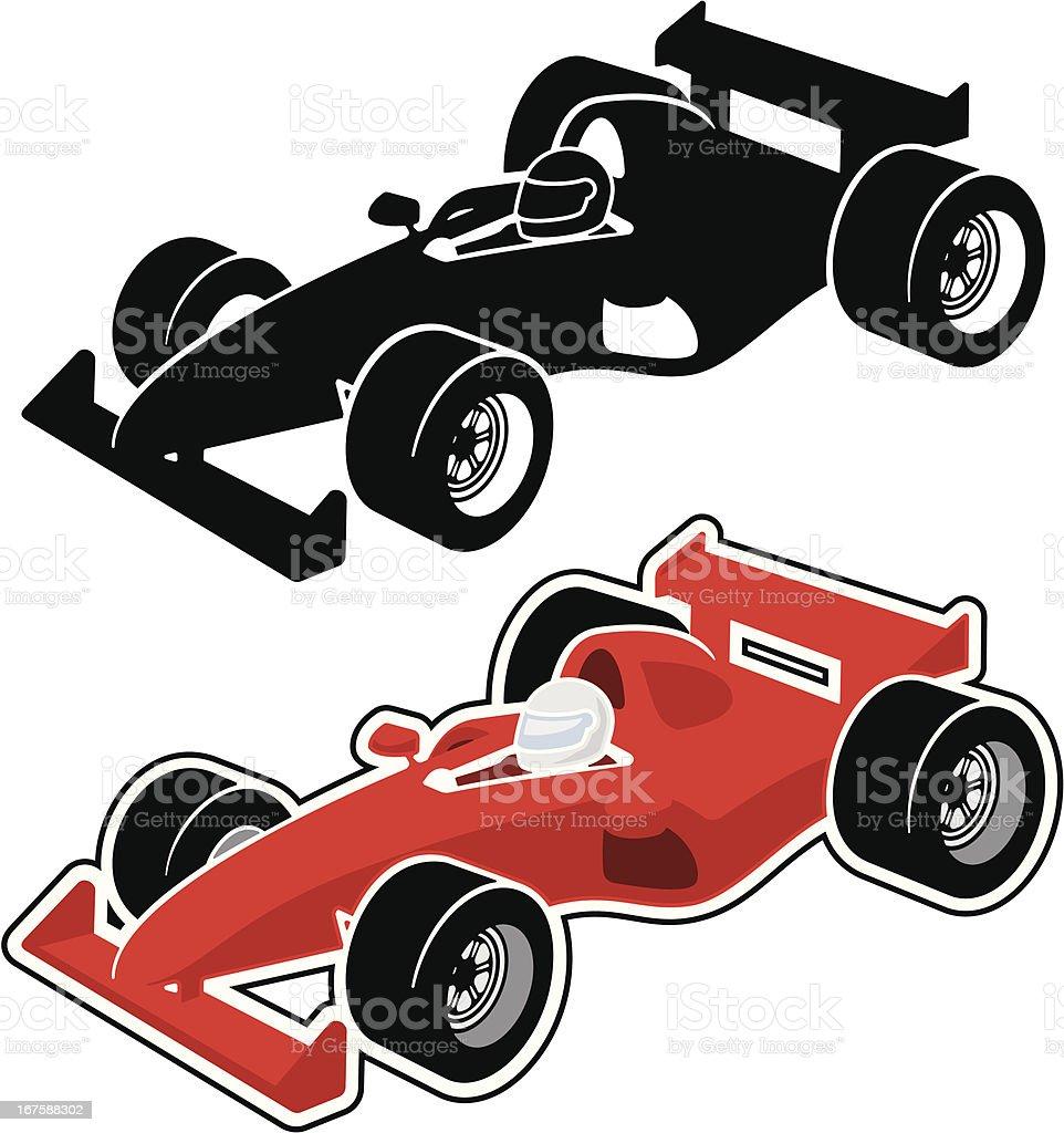 Racing Car vector art illustration