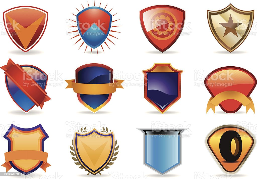 Racing Decals Shields royalty-free stock vector art