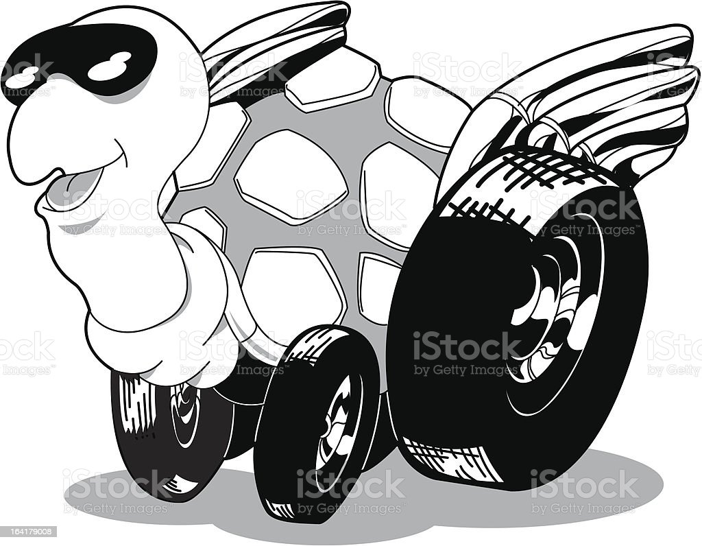 Racing Turtle royalty-free stock vector art