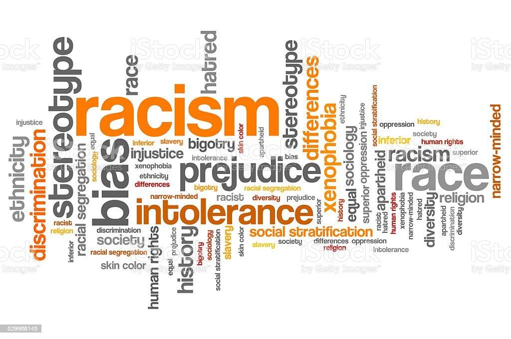 Racism vector art illustration