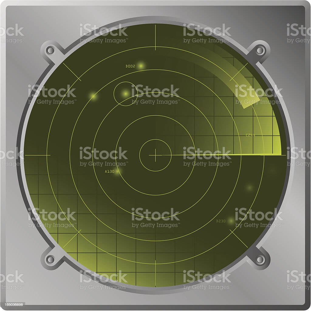 radar screen royalty-free stock vector art