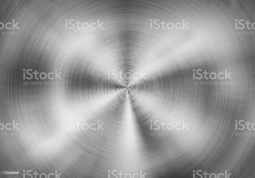 Radial stainless steel vector art illustration