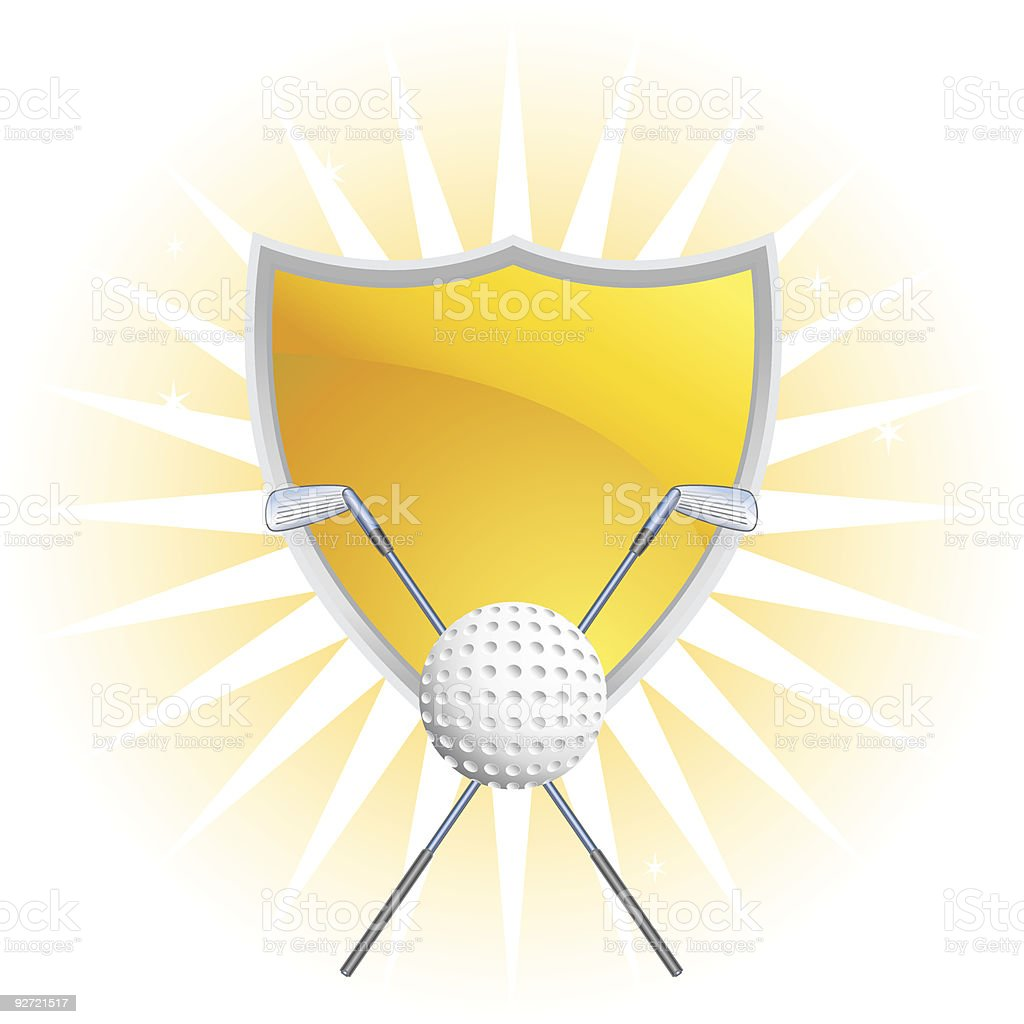 Radiant Golf Crest royalty-free stock vector art