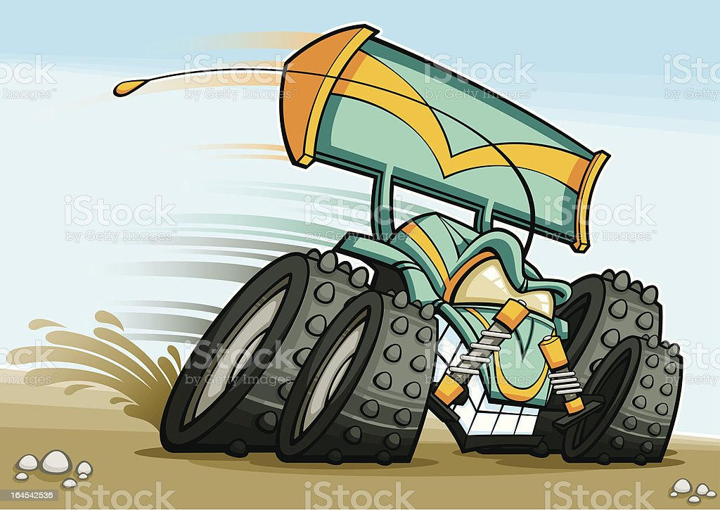 Radio Control Toy Car royalty-free stock vector art