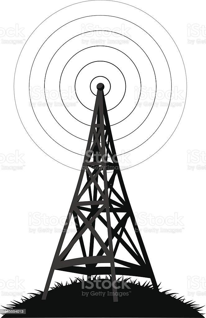 radio deluxe vector art illustration