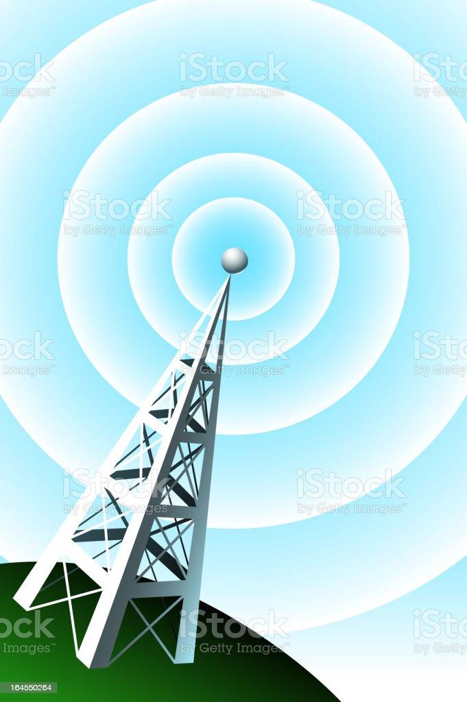 Radio Tower royalty-free stock vector art