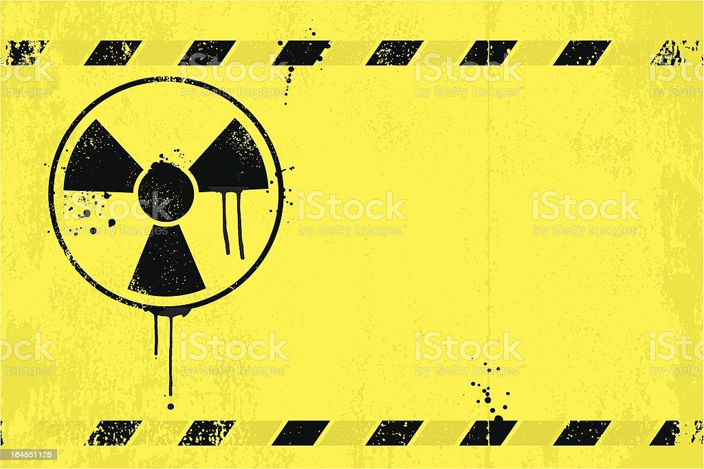 Radioactive danger sign royalty-free stock vector art