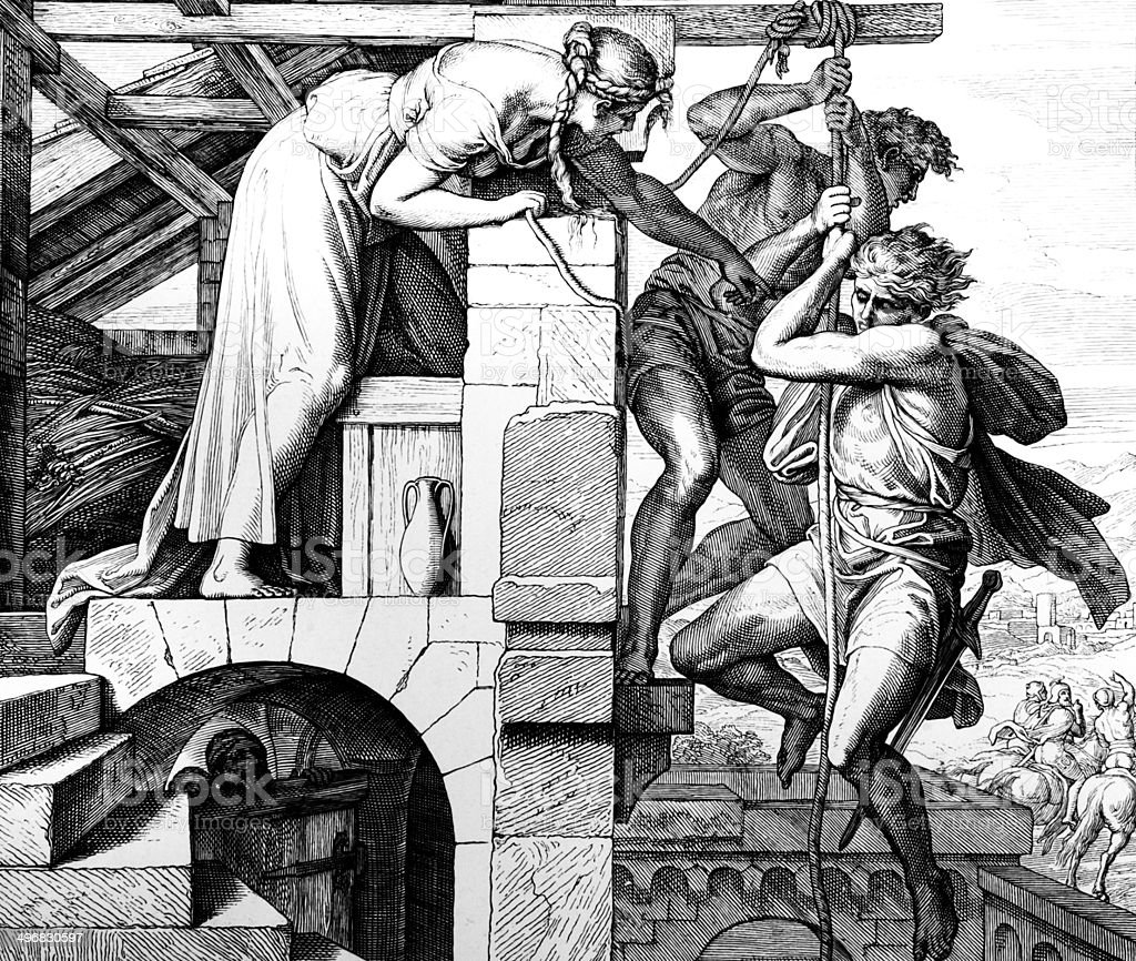 Rahab vector art illustration