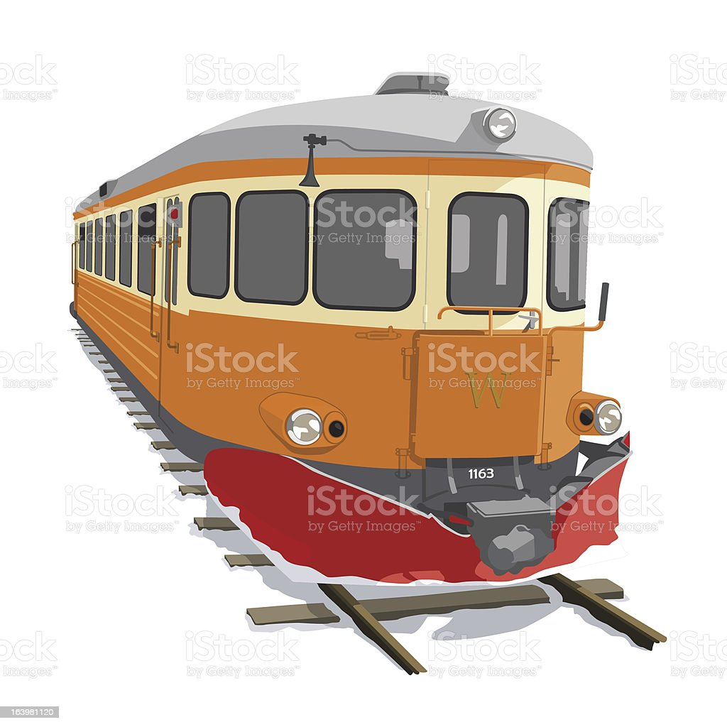 Railcar royalty-free stock vector art