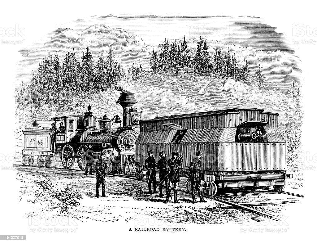 Railroad Battery vector art illustration