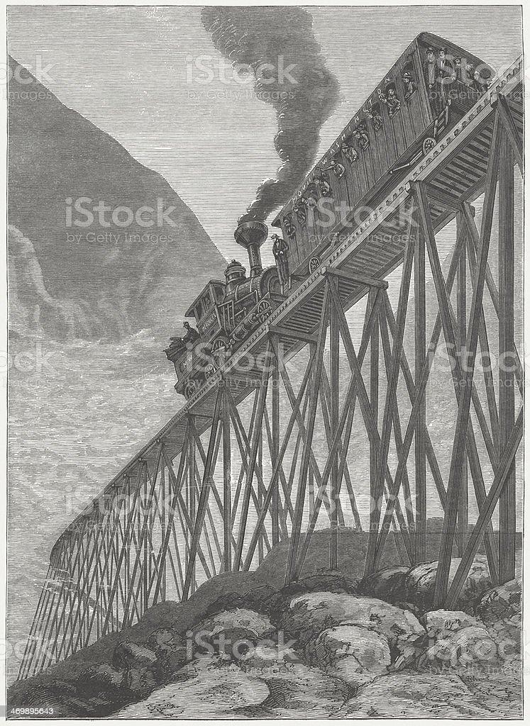 Railway at Mount Washington royalty-free stock vector art