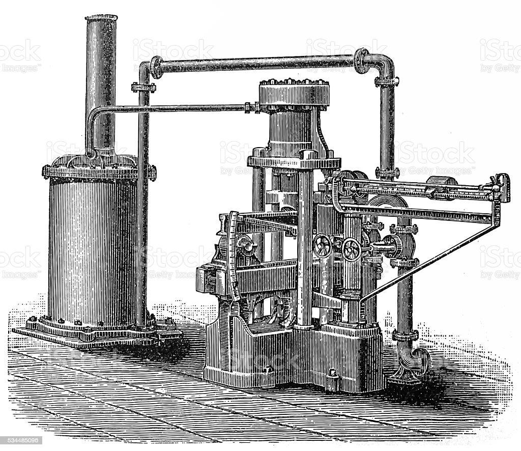 Railway Track Machinery vector art illustration