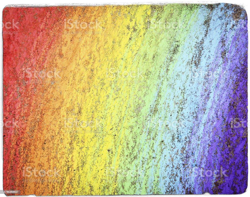 Rainbow Chalk Closeup vector art illustration