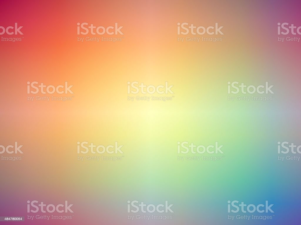 Rainbow colored blurred background vector art illustration