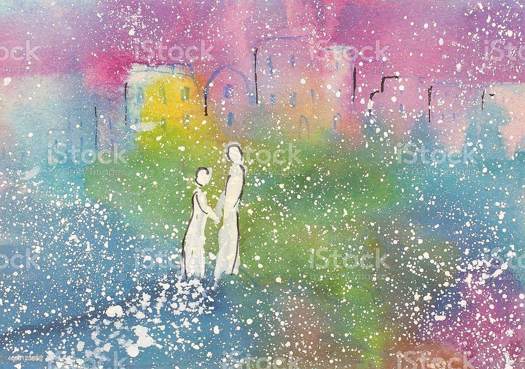 Rainbow Fecha de illustracion libre de derechos libre de derechos