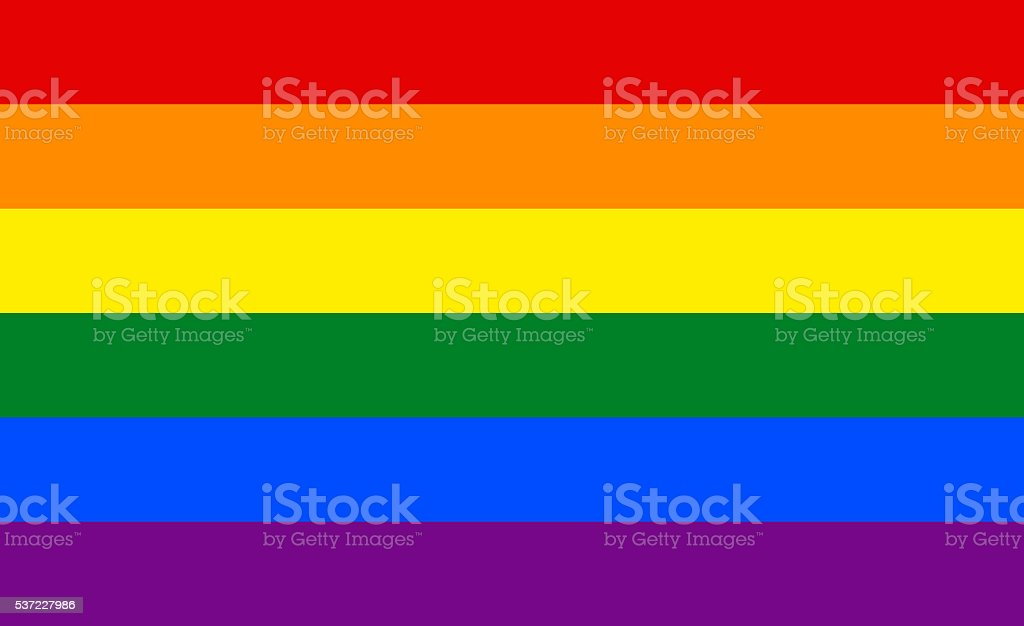 Rainbow flag - LGBT vector art illustration