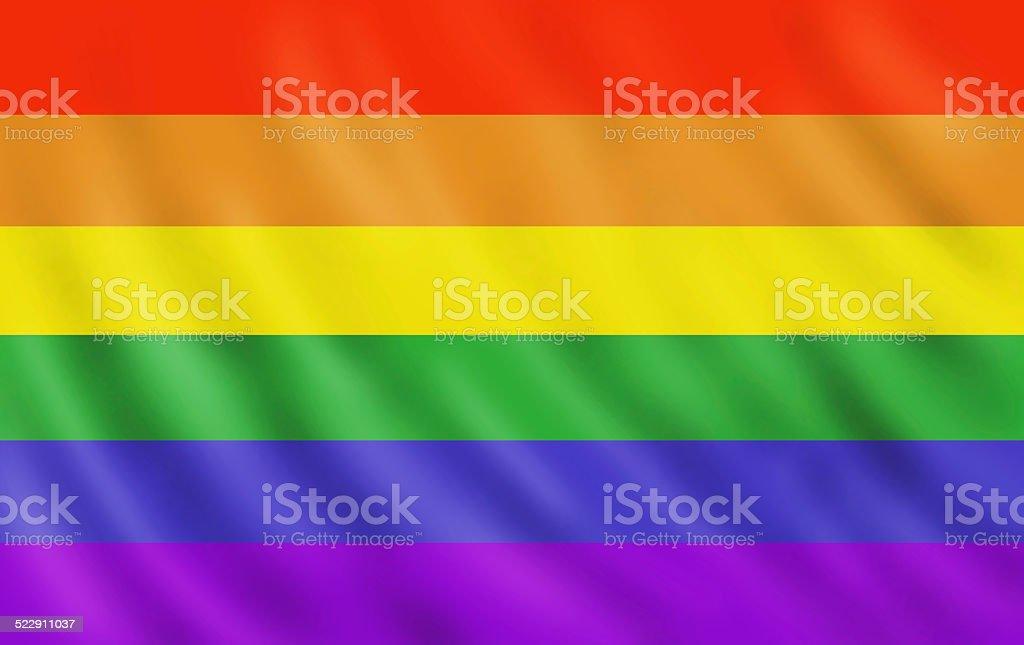 Rainbow gay pride flag vector art illustration