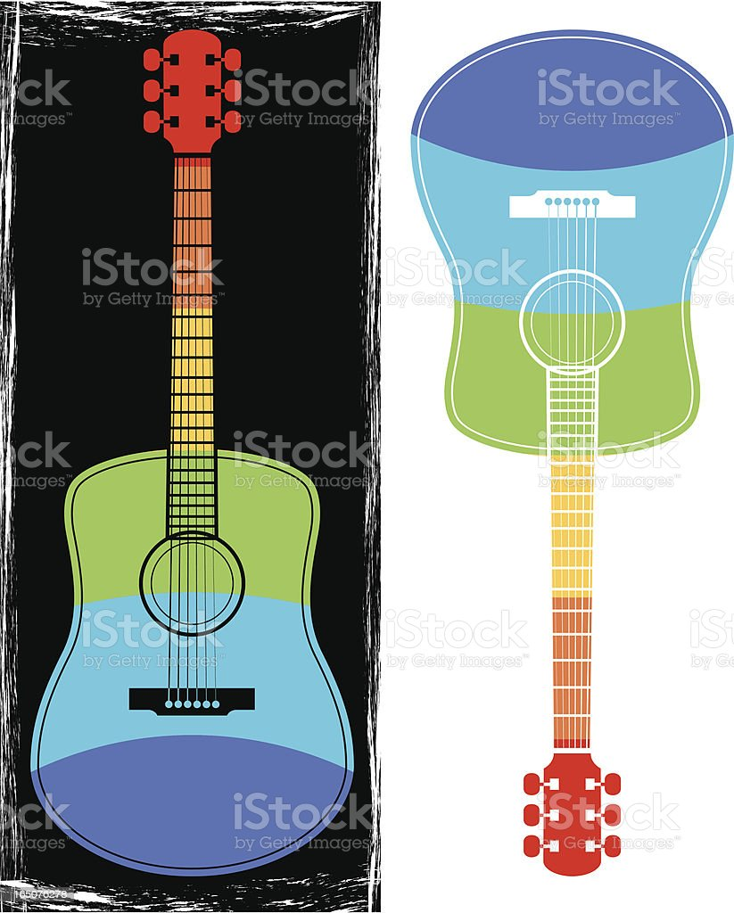 Rainbow guitar royalty-free stock vector art