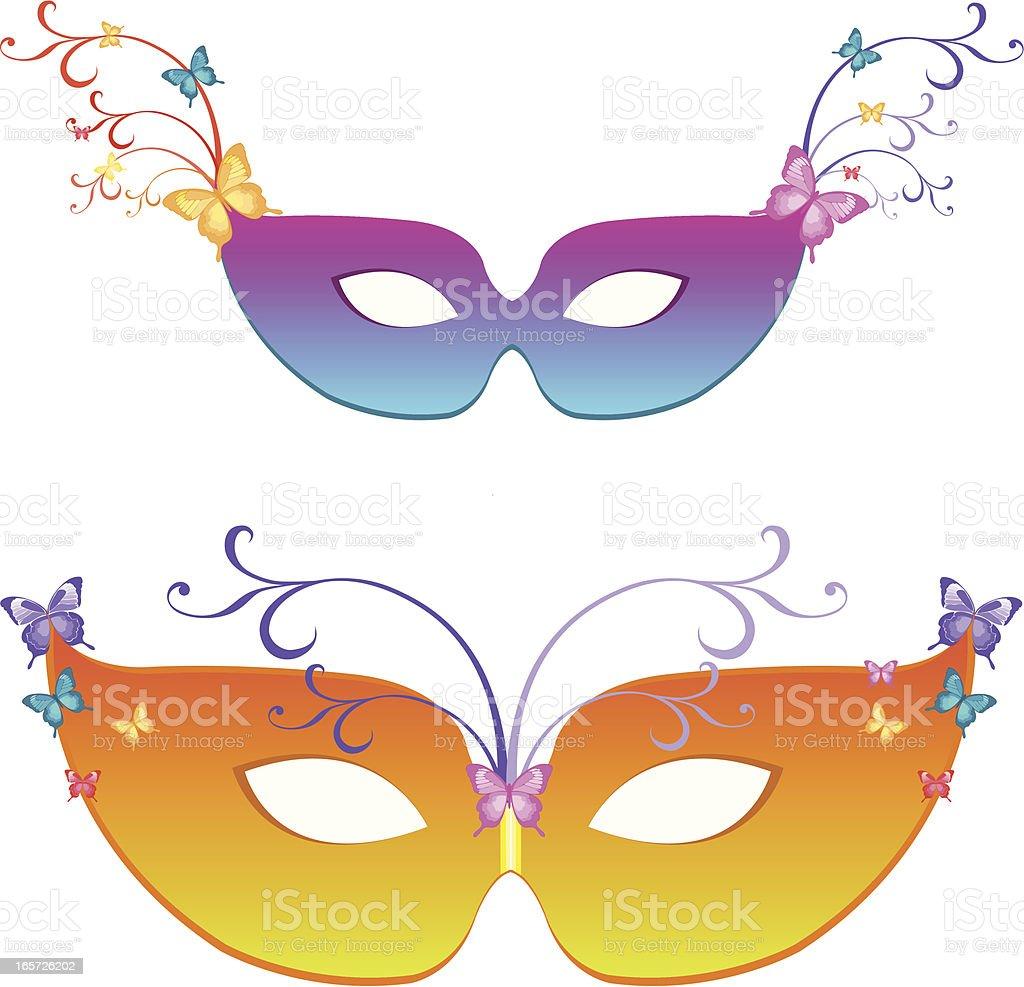 rainbow masks royalty-free stock vector art