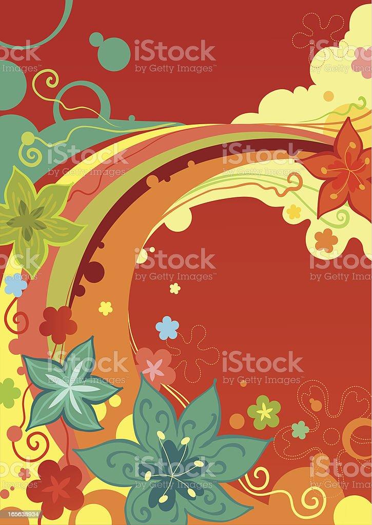 Rainbow of Flowers royalty-free stock vector art