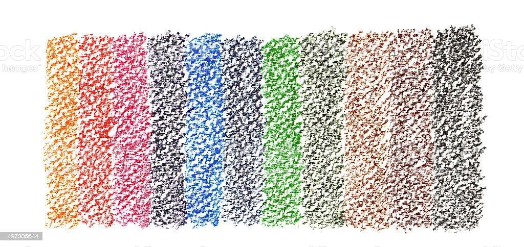 rainbow pastel crayon banner background vector art illustration