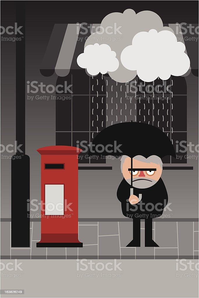 Rainy Day vector art illustration