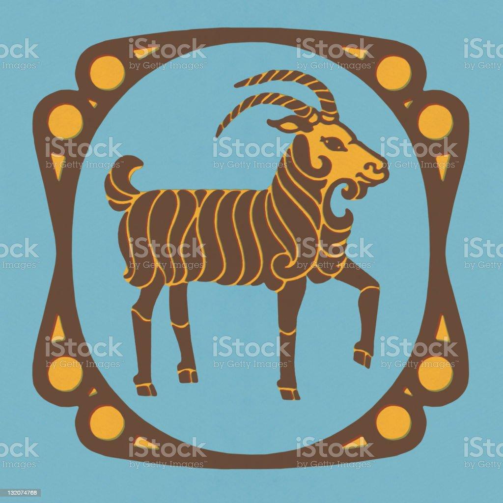 Ram Zodiac Symbol royalty-free stock vector art