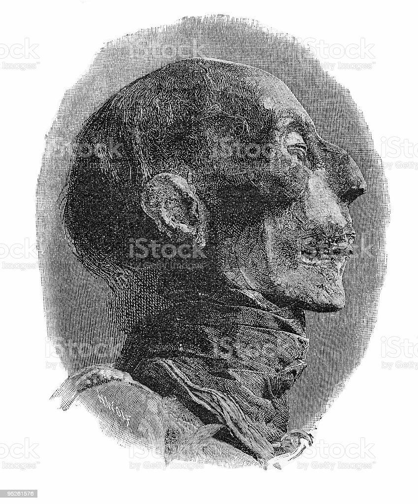 Ramses II royalty-free stock vector art