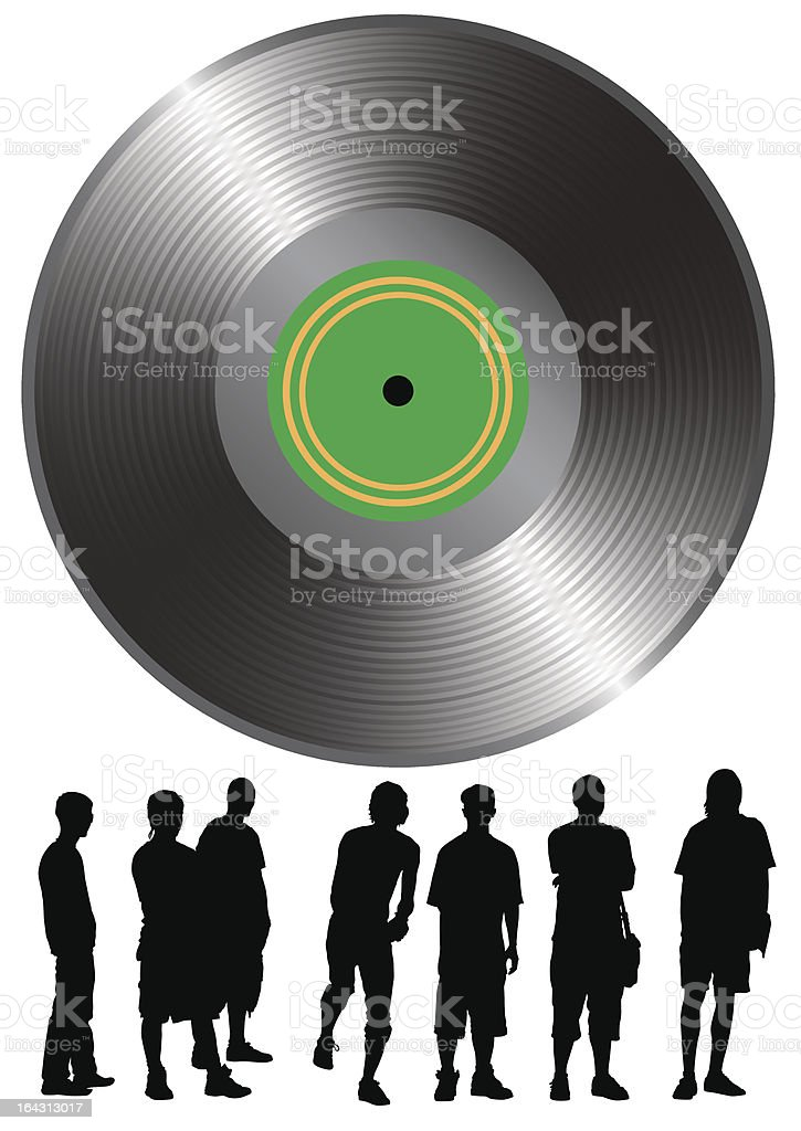 Rap music royalty-free stock vector art