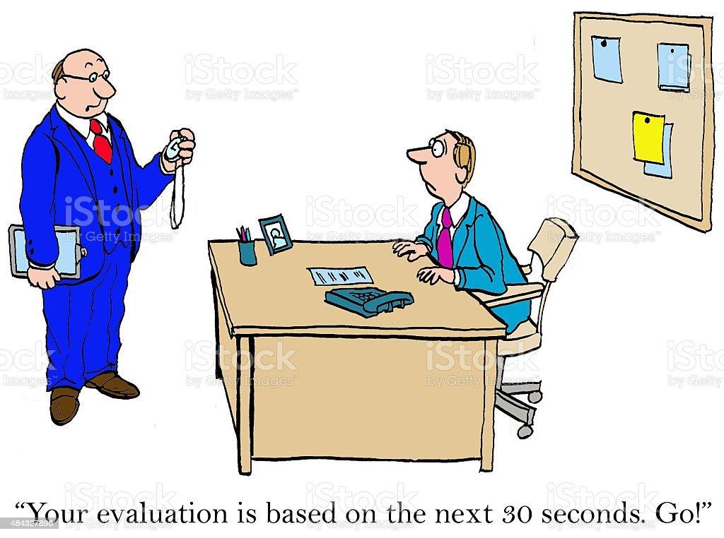 Rapid Evaluation vector art illustration