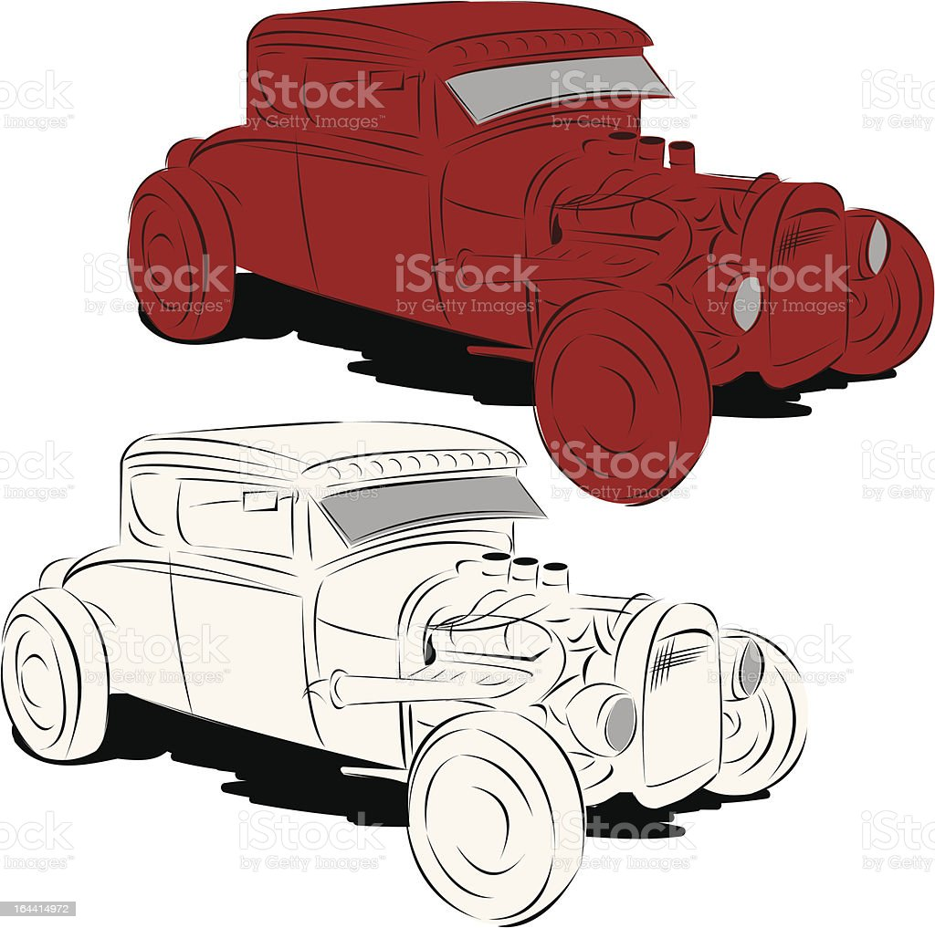 Rat Rod vector art illustration