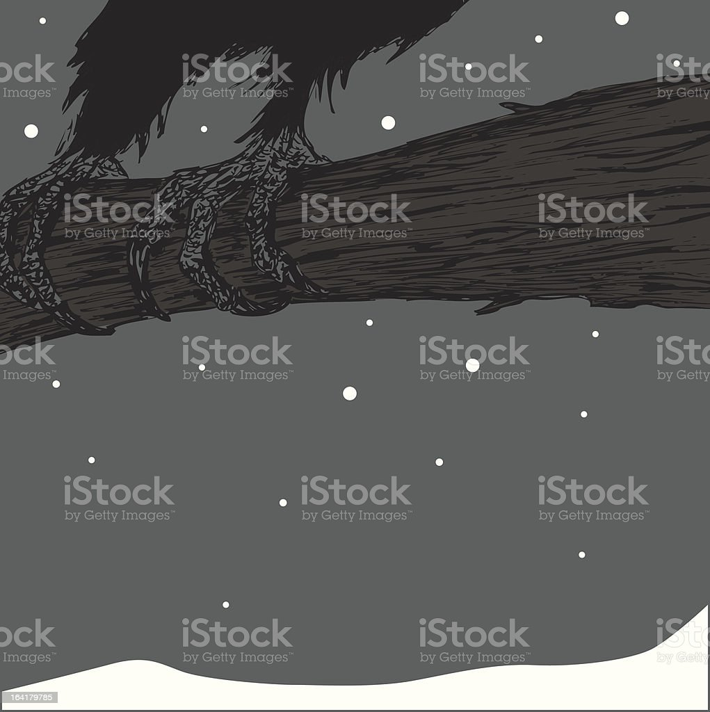 Raven Claw royalty-free stock vector art