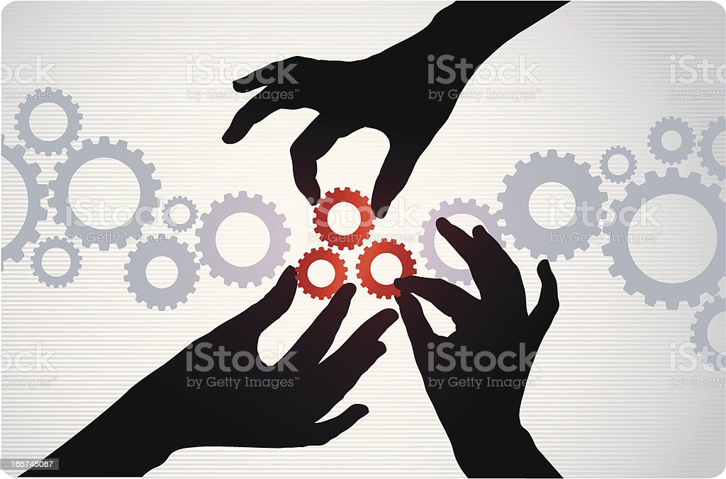 Reach the solution vector art illustration