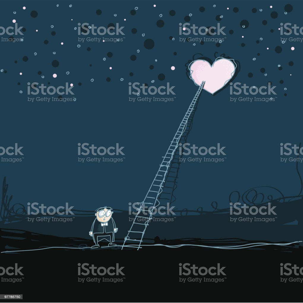 reaching your heart royalty-free stock vector art
